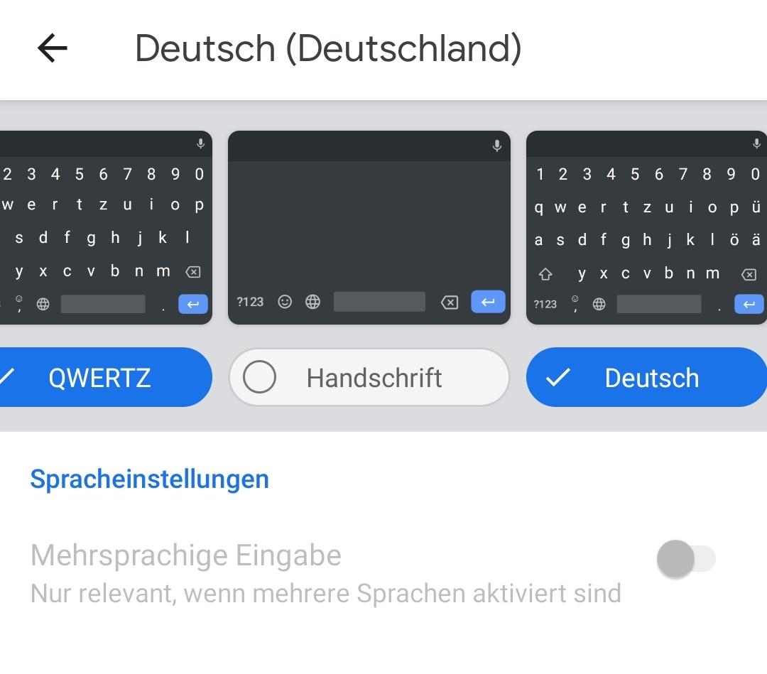 Android Tastatur Umlaute