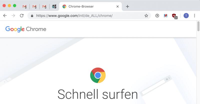 Chrome: Angeheftete Tabs